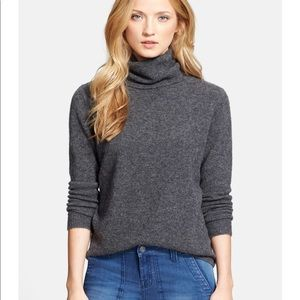 Joie gray Lizetta turtleneck sweater size medium